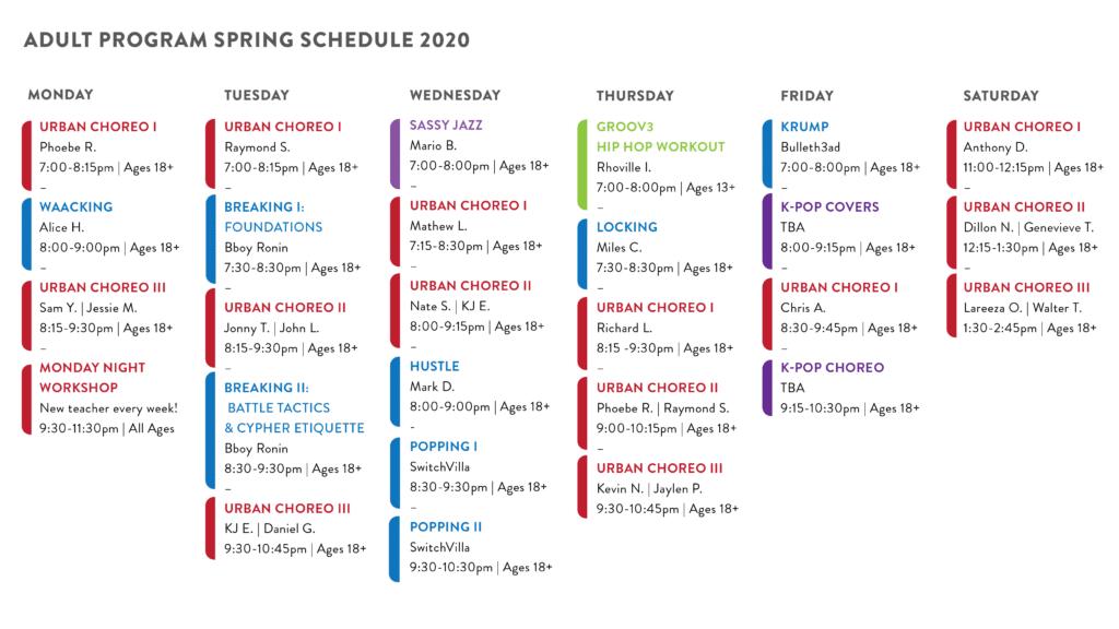 , Season Updates: Spring 2020